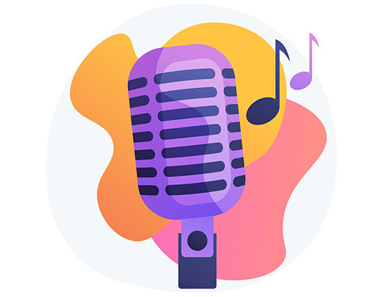 Popular music abstract concept vector illustration. Popular singer tour, pop music industry, top chart artist, musical band production service, recording studio, book for event abstract metaphor.